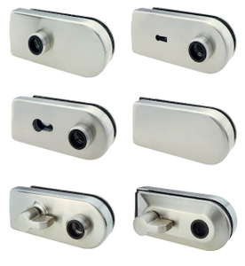 Office Building Commercial Interior Glass Door Lock