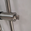 Glass door hardware round tube stainless steel pull handle with lock