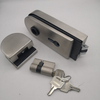 US stainless steel frameless glass door lock with handle Silent glass door lock