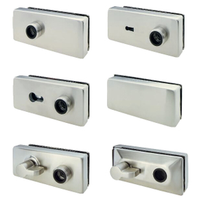 Polished Surface Stainless Steel Hardware Glass Door Lock