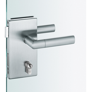 Euopean Glass Door Lock,compact, Heavy-duty Bearing Rectangular Lockset Plate Compact with Cover Plates with Heavy-duty Glass Door Lock(DIN 18251,CLASS 4)